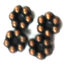 Metal spacer - 3mm daisy - antique copper