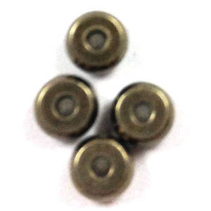 Metal Spacer: 4mm plain washer - dark antique silver