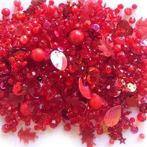 NEW! Large Acrylic Mix: Red