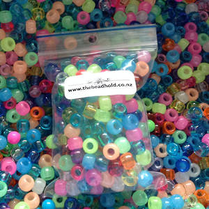 Acrylic Mix: Lighter Pony Beads