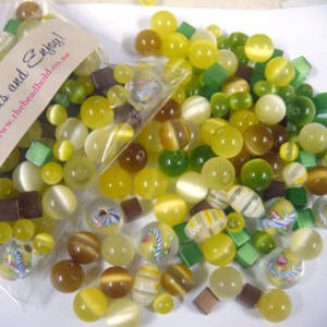 NEW! Fibre Optic MIX: Yellow/Green/Brown
