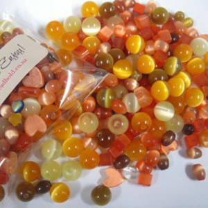 NEW! Fibre Optic MIX: Orange/Yellow/Brown