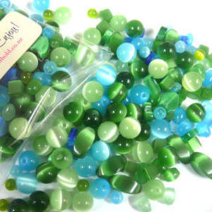 NEW! Fibre Optic MIX: Aqua/Green