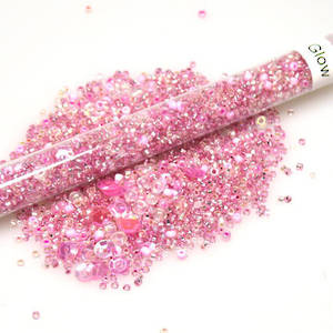 Seed Bead Mix, 25gm - pinks