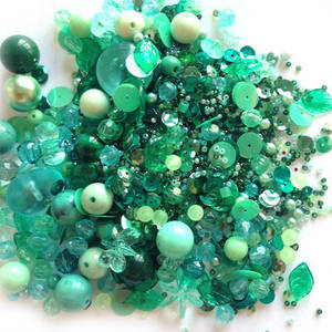 NEW! Large Acrylic/Glass Mix: Teals
