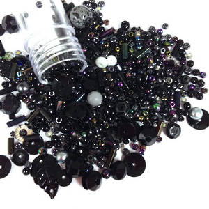 NEW! Chinese Seed Bead/Sequin Mix: MIDNIGHT