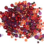 NEW! Seed Bead Mix, 15 grams - RUBY RED SHOES
