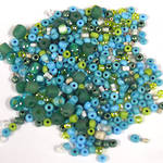 NEW! Seed Bead Mix, 15 grams - TURQUOISE GREEN