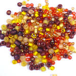 NEW! Seed Bead Mix, 15 grams - YELLOW BROWN