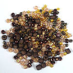 NEW! Seed Bead Mix, 15 grams - BRONZED