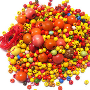 Wooden Bead MIX 1:  Orangina