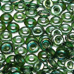 NEW! Czech O Bead - Emerald Celsian
