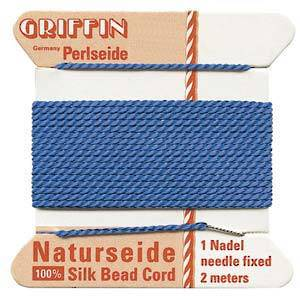 Griffin Silk Cord - Blue - Size 2 (0.45mm)