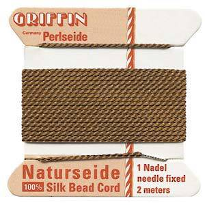 Griffin Silk Cord - Brown - Size 2 (0.45mm)