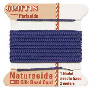 Griffin Silk Cord - Blue, dark - Size 2 (0.45mm)