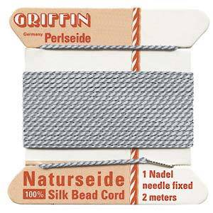 Griffin Silk Cord - Grey - Size 2 (0.45mm)