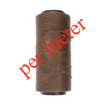 Knot-It Brazilian Waxed Polyester Cord: Brown - per meter