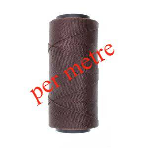 Knot-It Brazilian Waxed Polyester Cord: Dark Chocolate - per meter