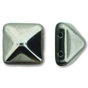 Pyramid Stud: 12mm - Jet Full Chrome