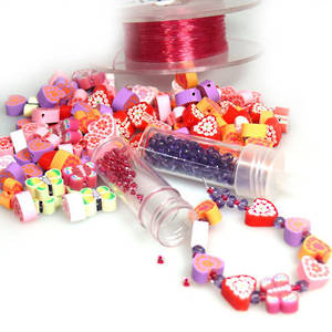 Kids Party Pack - Fimo Heart Bracelets.  12 children