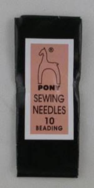 Pony Beading Needles, 25 pack: Size 10.