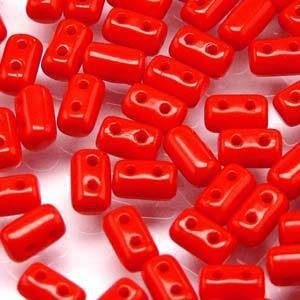 Rulla Bead, Opaque Coral Red