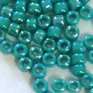 Miyuki size 11 round: 430R - Turquoise Opaque Shimmer