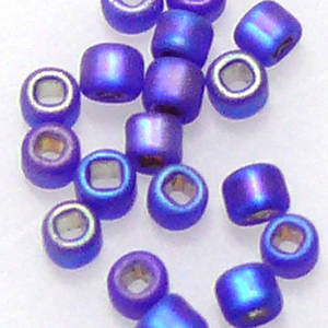Miyuki size 11 round:  F641 - Frosted Sapphire Shimmer