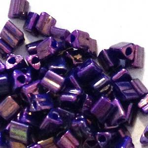 Miyuki size 10 triangle: 460D -  Purple Shimmer