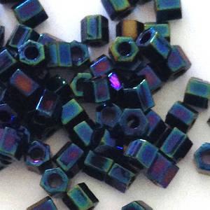 Miyuki size 8 hex: 452 - Deep Blue Iris