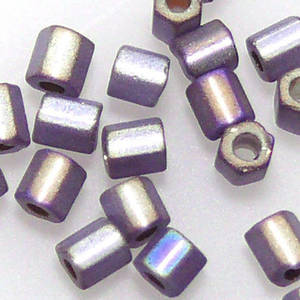 Miyuki size 8 hex: F639 - Frosted Amethyst