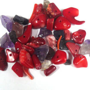 NEW! Semi-Precious Chip Mix - Corals (small tube)
