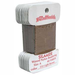Silamide,  40 yard card - Light brown