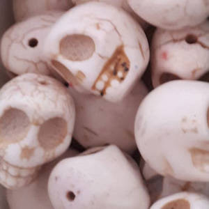 Howlite Skull: Large - Bone