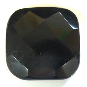Large Agate Faceted Square, 40mm