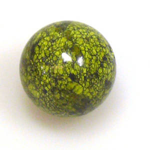 Semi Precious, Green Snowflake ball, 20mm