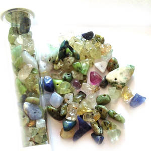 NEW! Semi-Precious Chip Mix - Greens