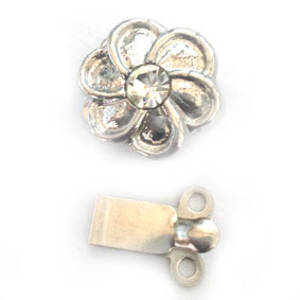 Sparkly Clasp,  Swirly Flower