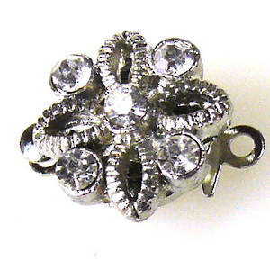 Sparkly Clasp, Open Flower shaped