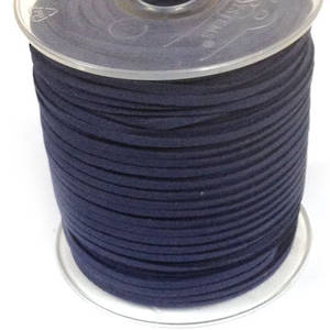 Faux Suede Cord, Dull Navy Blue