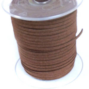 Faux Suede Cord, Lighter Brown