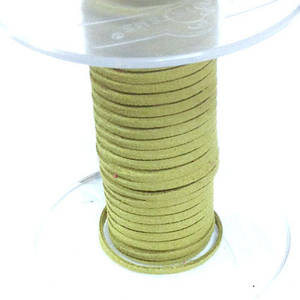 Faux Suede Cord, Light Olive Green