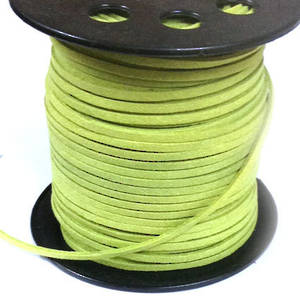 Faux Suede Cord, Lt Pea Green