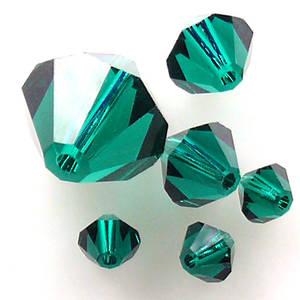 4mm Swarovski Crystal Bicone, Emerald