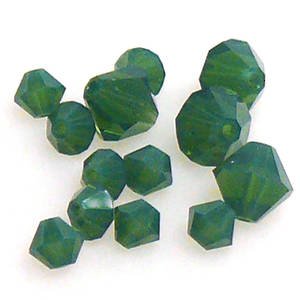 6mm Swarovski Crystal Bicone, Palace Green Opal