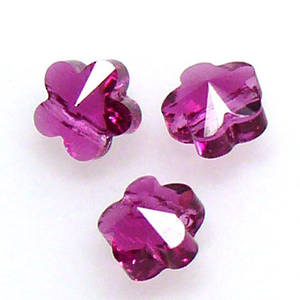 Swarovski Crystal 5mm Flower, Fuschia