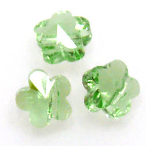 Swarovski Crystal 5mm Flower, Peridot