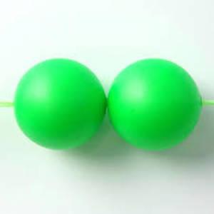 6mm Round Swarovski Pearl, Neon Green