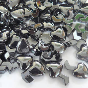 Hematite Mix - Hearts and Chevrons
