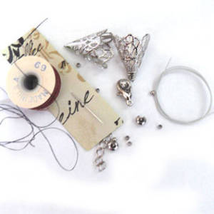Summer Queen Necklace BASE KIT: Threads and Findings